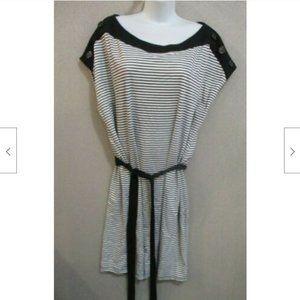 AA Studio Knit Dress Plus Size 22W Belted Dolman